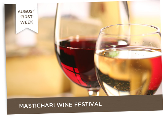 August First Week Mastichari Wine Festival + Late August Honey Festival in Antimacheia