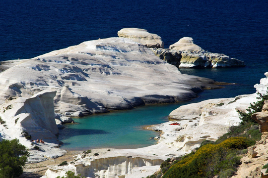 Beaches Milos island