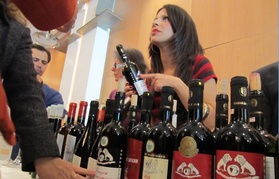 Wine exhibition Greece