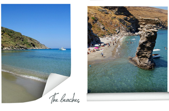 The best Beaches in Andros