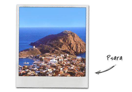 Psara island in Greece