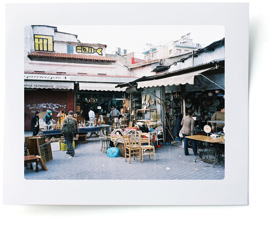 Flea Market in Athens