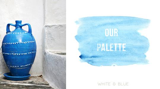 Greece is white & blue