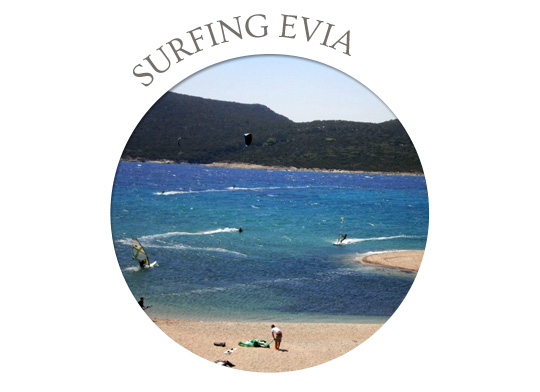 surfing in evia