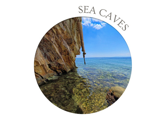 evia sea caves