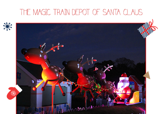 The Magic Train Depot of Santa Claus