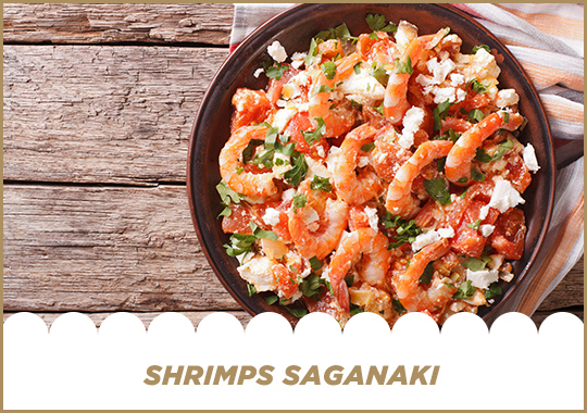 Shrimps Saganaki