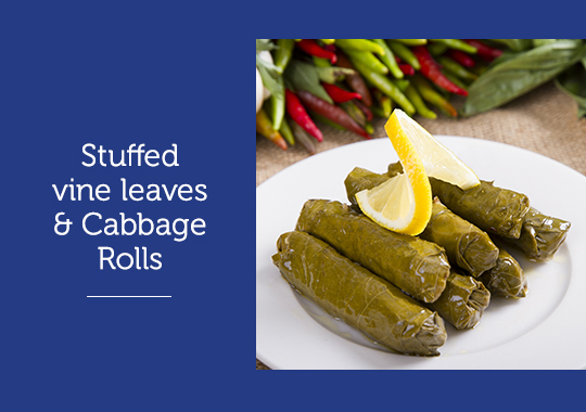Stuffed-vine-leaves-&-Cabbage-Rolls