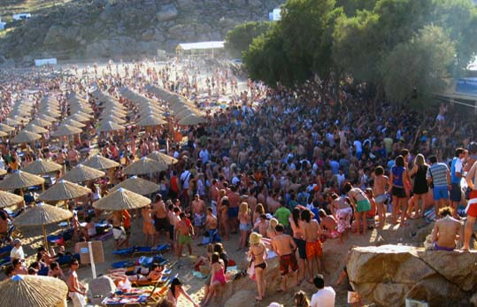 Best Island Beaches For Partying Mykonos St Barts: Cycladia Eat & Drink