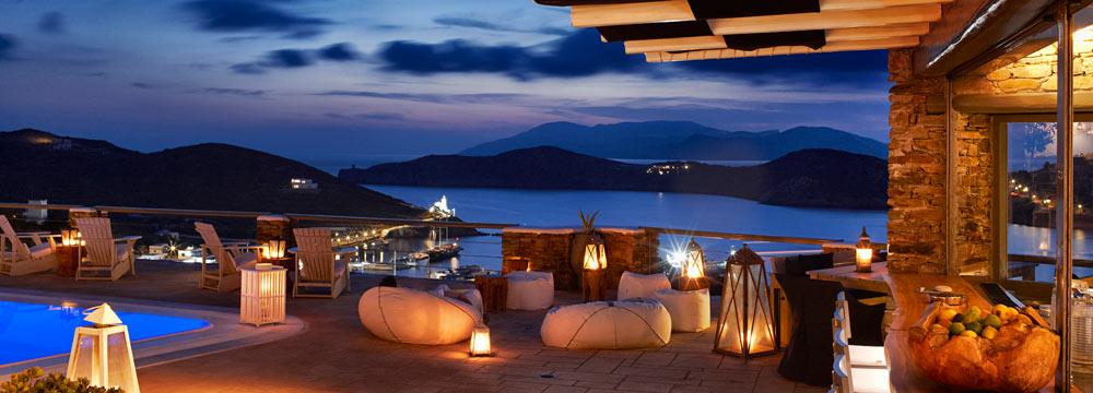 Liostasi Hotel Swimming Pool Night view