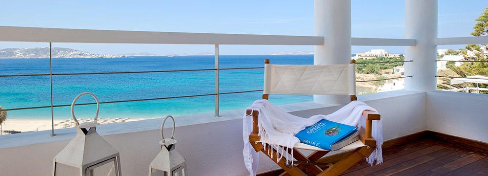 Grace Mykonos Superior Suite Balcony & View