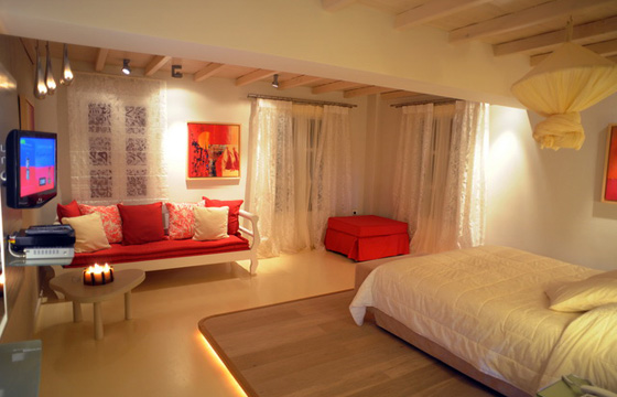 Iria Beach hotel room