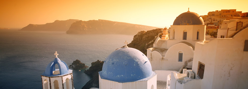 View from Ia ( Oia )-Santorini Island